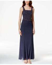 Alex Evenings | Multicolor Petite Sleeveless Glitter Gown And Jacket | Lyst