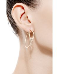 Susan Foster - Metallic Love Earrings with Rose Cuts - Lyst