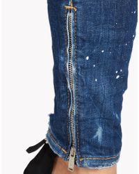 DSquared² - Blue Medium Waist Skinny Jeans - Lyst