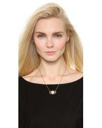 Pamela Love Metallic Luna Reveal Pendant Necklace - Moonstone/antique Gold