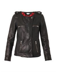 Étoile Isabel Marant Black Bacuri Collarless Leather Jacket