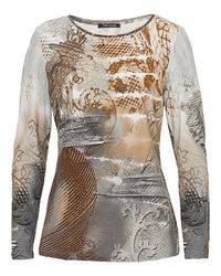 Betty Barclay Metallic Graphic Print Top
