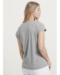 Violeta by Mango | Gray Metallic Stripes T-shirt | Lyst