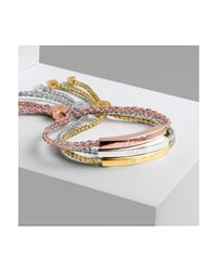 Monica Vinader Metallic Esencia Friendship Bracelet