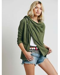 Free People - Green We The Free Womens We The Free Wrap Ruffle Cardi - Lyst