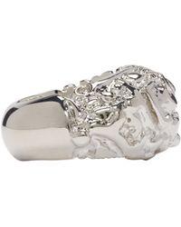 Acne | Metallic Silver Marioline Ring | Lyst