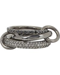 Spinelli Kilcollin | Metallic Solaris Gris Pave Noir Ring | Lyst