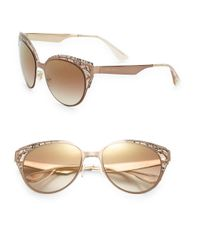 Jimmy Choo | Brown 55mm Cat Eye Sunglasses | Lyst