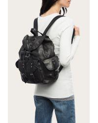 Frye - Black Veronica Backpack - Lyst