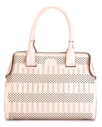 Tod's Pink 'cape' Laser-cut Tote Bag