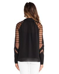 Alice By Temperley Black Angelina Blouse