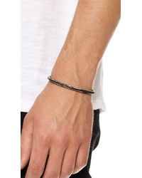 Cause and Effect Gray Painted Sterling Silver Cuff for men