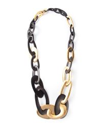 Monies | Black Chunky Link Necklace | Lyst