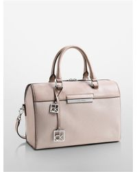 Calvin Klein - Natural White Label Valerie Sleek Satchel - Lyst