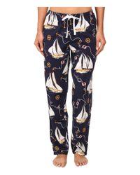 Lauren by Ralph Lauren | Blue Il Pellicano Short Sleeve Knit Top W/ Long Woven Pants | Lyst