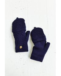 Urban Outfitters Blue Plush-Lined Convertible Glove