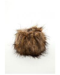 Missguided | Faux Fur Cuffs Brown | Lyst