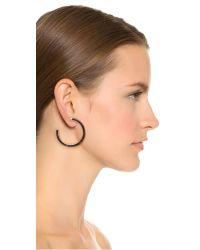 Michael Kors Metallic Tortoise Hoop Earrings