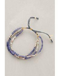 Shashi | Blue Blaire Slide Bracelet | Lyst
