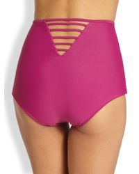 Tori Praver Swimwear - Purple Kenny Highwaisted Bikini Bottom - Lyst