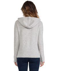 Autumn Cashmere | Honeycomb Stitch Hoodie in Gray | Lyst