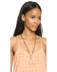 Lulu Frost | Metallic Portico Pendant Necklace - Gold/clear | Lyst