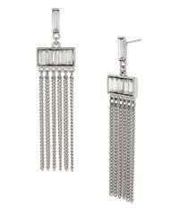 Kenneth Cole | Metallic Crystal Baguette Chandelier Earrings | Lyst