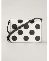a9e3494f9b Dolce & Gabbana Polka-Dot Leather Cross-Body Bag in Black - Lyst