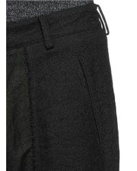 Ziggy Chen - Black Herringbone Side Panel Wool-ramie Hopsack Pants for Men - Lyst