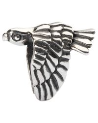 Trollbeads Metallic Falcon Sterling Silver Charm