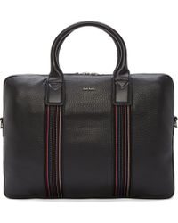 Paul Smith Black Grained Leather Briefcase for men