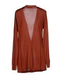 Balenciaga - Brown Cardigan - Lyst