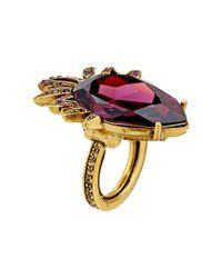Oscar de la Renta | Red Bold Pear Stone Ring | Lyst