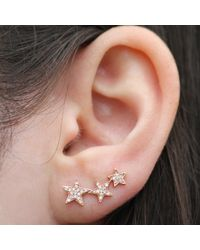 Anne Sisteron | Pink 14kt Rose Gold Diamond Etoile Ear Cuff | Lyst