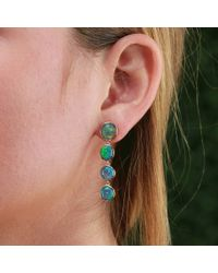 Katherine Jetter - Black Opal Drop Earrings - Lyst
