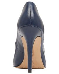 Vince Camuto | Blue Kain Leather Pumps | Lyst