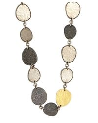 Gurhan | Metallic Silver And Gold 'contour' Long Necklace | Lyst