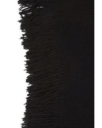 Forever 21 | Black Ribbed Knit Fringed Poncho | Lyst