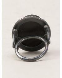 Amedeo - Black Monkey Ring - Lyst