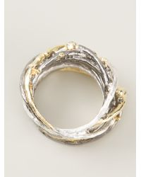 Bjorg Metallic Big Nest Ring