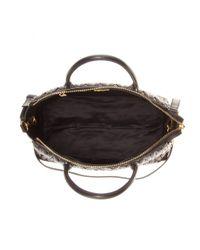 Miu Miu Black Matelassé Leather Tote