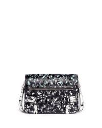 Proenza Schouler Black 'ps11' Velvet Flock Classic Shoulder Bag