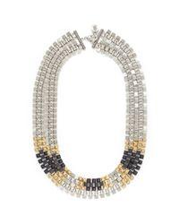 Ela Stone - Multicolor Freja Pyramid Chain Necklace - Lyst