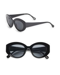 Elizabeth and James | Black Lindall 51mm Cat's Eye Sunglasses | Lyst