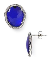 Nadri | Blue Pavé Tanzanite Stud Earrings - Bloomingdale's Exclusive | Lyst