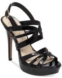 Jessica Simpson Black Binnie Platform Evening Sandals