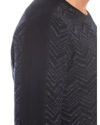 Vince - Gray Chevron Print Wool And Linen-blend Sweater for Men - Lyst