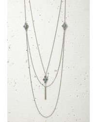 Forever 21 - Blue Layered Pendant Necklace Set You've Been Added To The Waitlist - Lyst