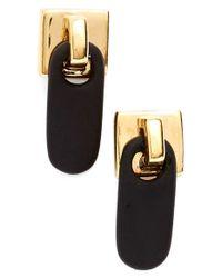 Marc Jacobs | Black 'zipper Pull' Stud Earrings | Lyst