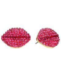 Betsey Johnson - Ocean Drive Pink Watermelon Button Earrings - Lyst